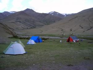 Camping in Chorten Sumdo (near Rumtse)