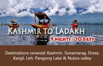 Kashmir to Ladakh tour package