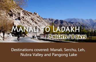Manali to Ladakh tour package